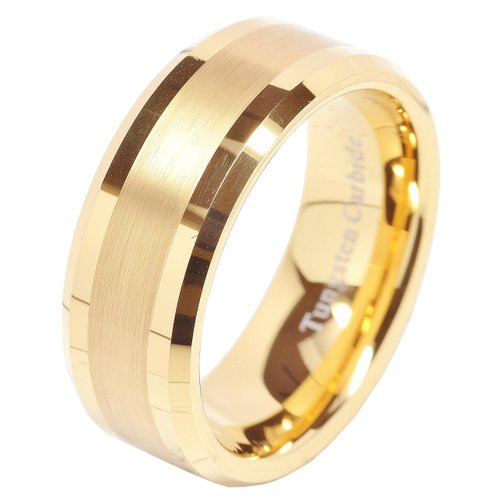 100S Jewelry 8Mm Men'S Tungsten Carbide Ring