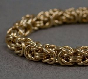 14K Gold Byzantine Bracelets For Men