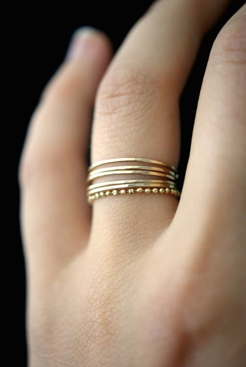 14K Gold Chains Ring