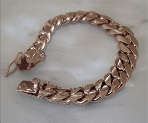 14K Rose Gold Bracelets For Men