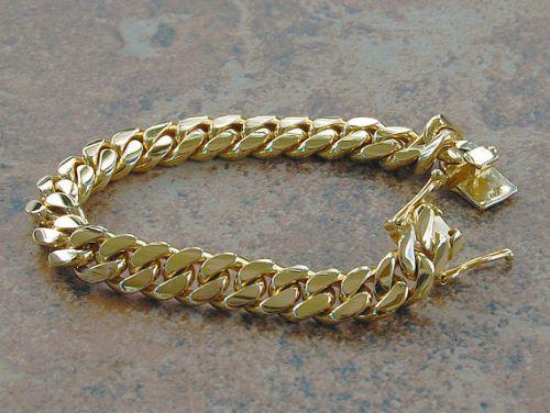 14K Yellow Gold Bracelets For Men