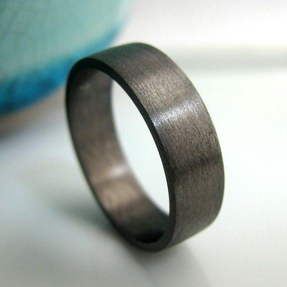 black gold plated over 925 sterling silver wedding bands - Black Mens Wedding Ring