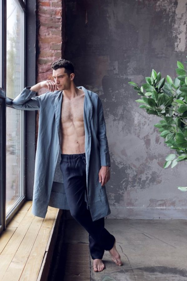 Blue Dressing Gown for Men