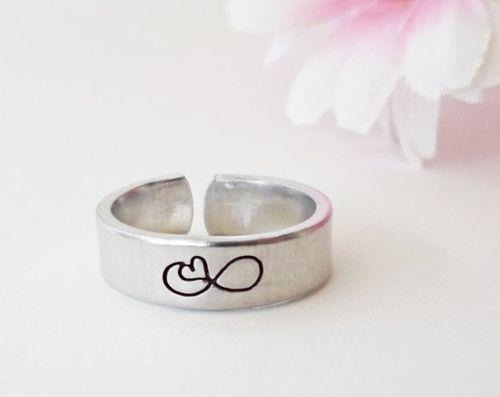 Custom Stamped Infinity Ring