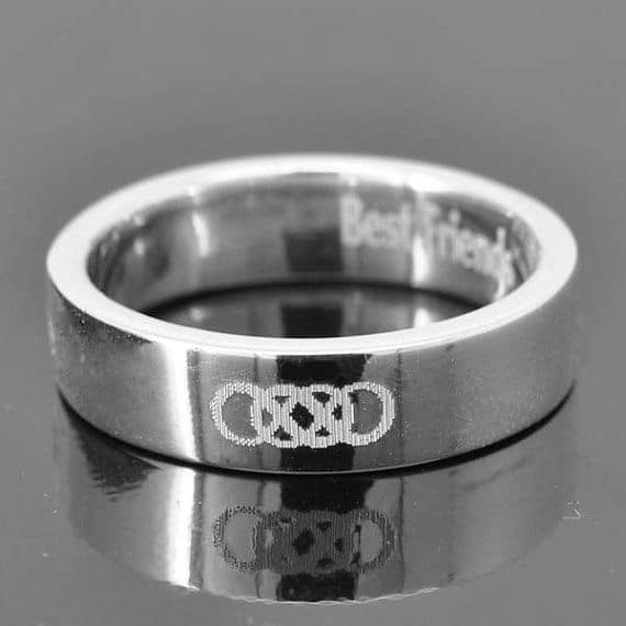 Double Infinity Ring for Men