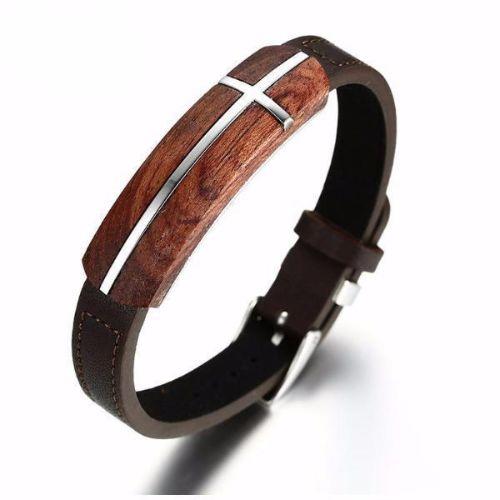 Fashionable Mens Leather Bracelets