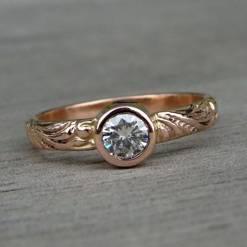Gold Engagement Rings On Hand