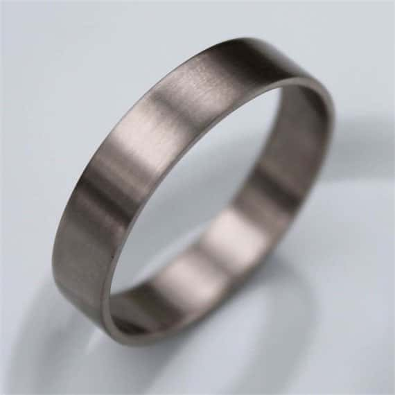 Handmade Recycled 14k Palladium White Gold Wedding Band
