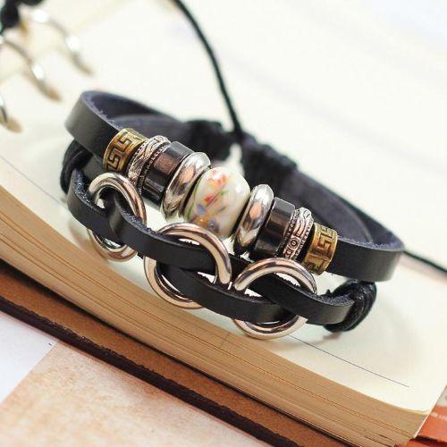 Mens Leather Bracelet Uk