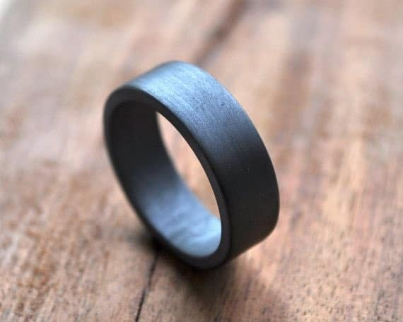 Men's Oxidized Wedding Bands