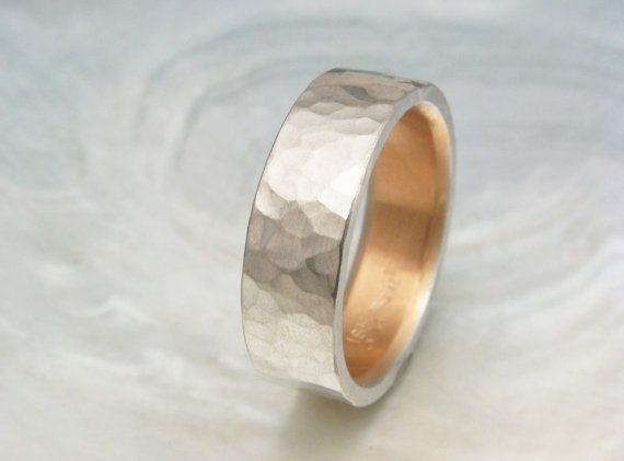 Mens Platinum Wedding Band 6mm