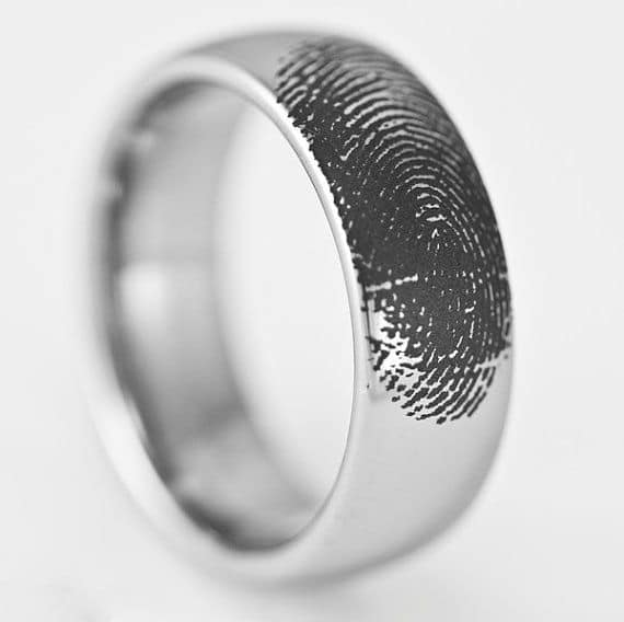 Mens Tungsten Engraved Promise Ring