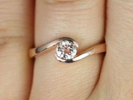 Shopping for a Morganite Ring Morganite Single Twist Engagement Ring