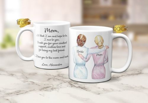 Mother of Bride Mug Wedding Gift