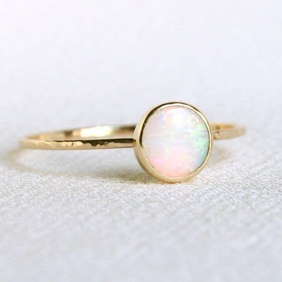 natural fiery opal orbital wedding ring - Opal Wedding Ring