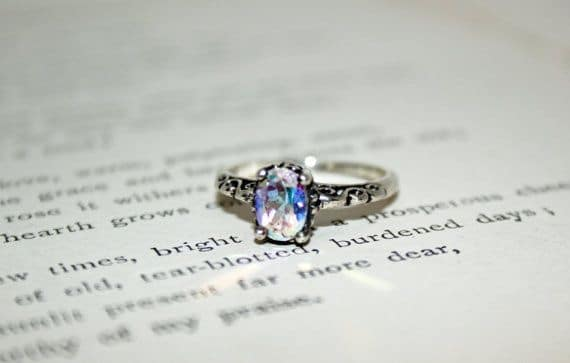 Opalescent Topaz Promise Ring