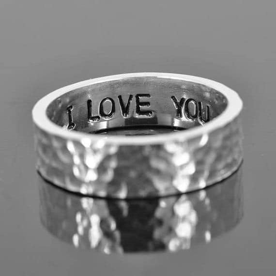 Personalised Promise Ring His and Her