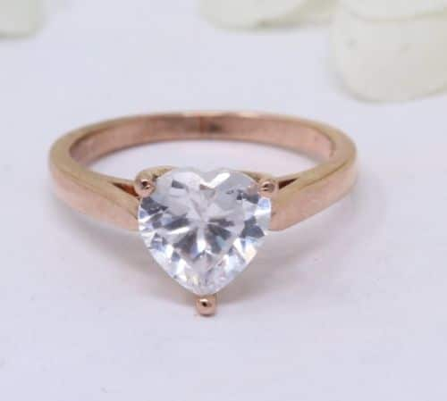 Solid Heart Promise Ring