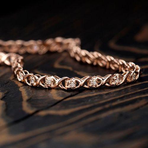 Solid Rose Gold Bracelet