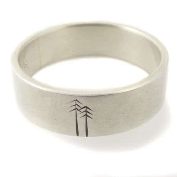 Sterling Silver Weddings Bands Men