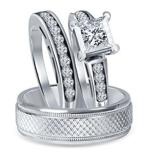 Wedding Trio Ring Sets for Men for Women