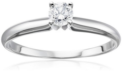 Amazon Collection 14K White Gold Engagement Ring
