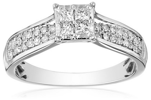 Amazon Collection IGI Certified 14k White Gold