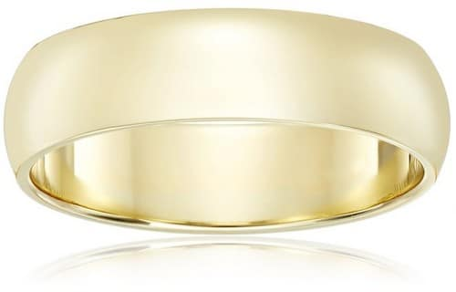 Amazon Collection Men'S 14K Gold Wedding Band