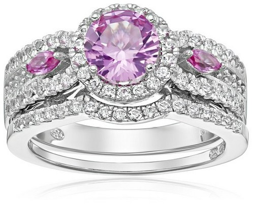 Amazon Collection Sterling Silver Sapphire Cheap Engagement Rings