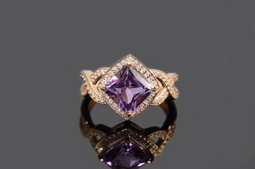 Amethyst And Diamond Rings