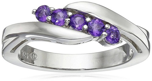 Amethyst Engagement Rings White Gold