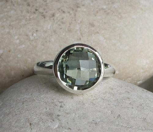 Amethyst Rings Sterling Silver