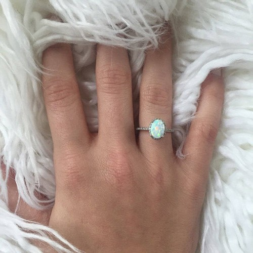 Antique Opal Engagement Rings