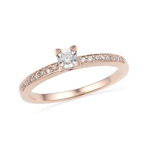 Antique Pink Gold Engagement Ring
