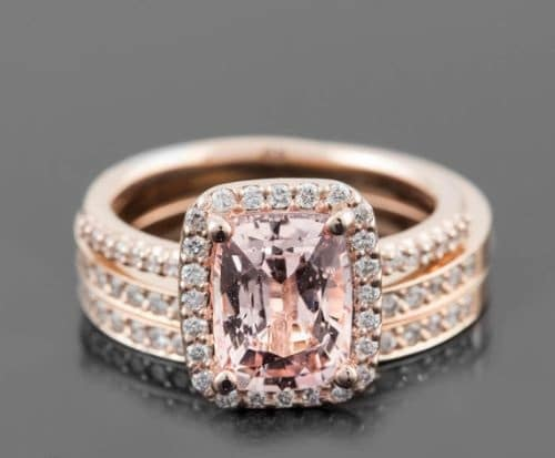Antique Pink Gold Engagement Rings