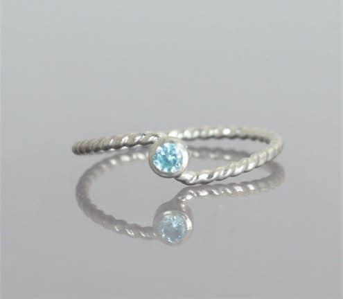 Aquamarine Rings White Gold