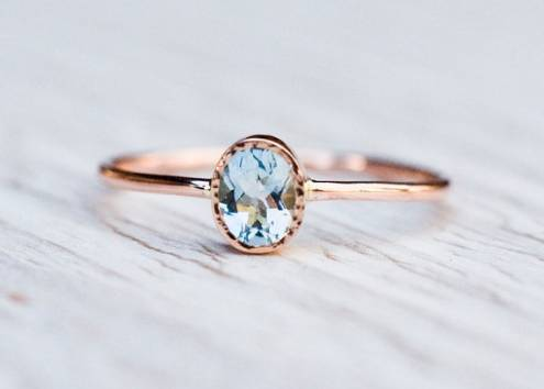 27 Most Stunning Aquamarine Rings from Etsy