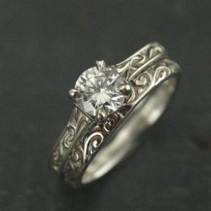 Art Nouveau Engagement Ring