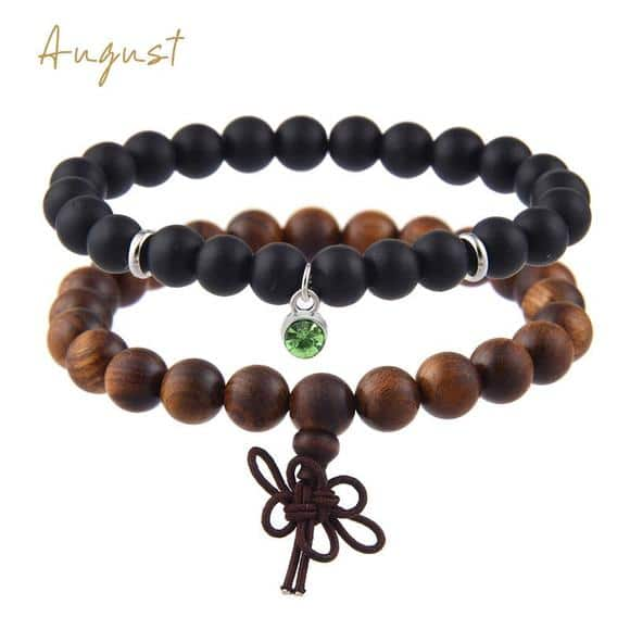 August Birthstones Bracelet Set