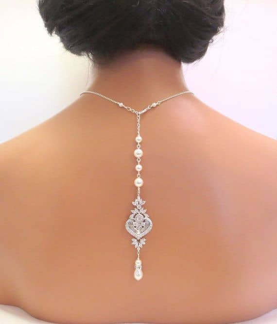 Backdrop Bridal Jewellery Necklace Pearl