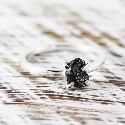 Beautiful Rough Diamond Rings