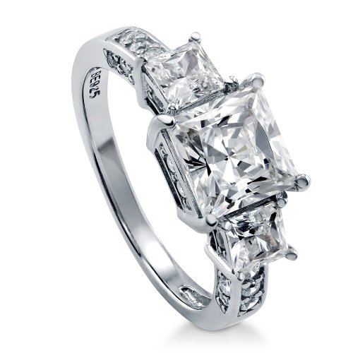 Berricle Sterling Silver 3.13 Ct.Tw Cheap Engagement Rings