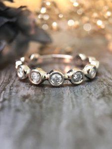 Bezel Bar Setting Eternity Ring