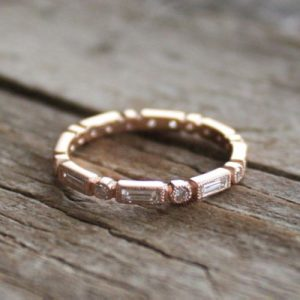 Bezel Bar Setting Eternity Ring