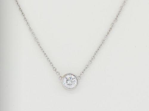 Bezel Diamond Necklace