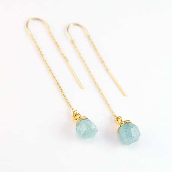 Birthstones Aquamarine Earrings