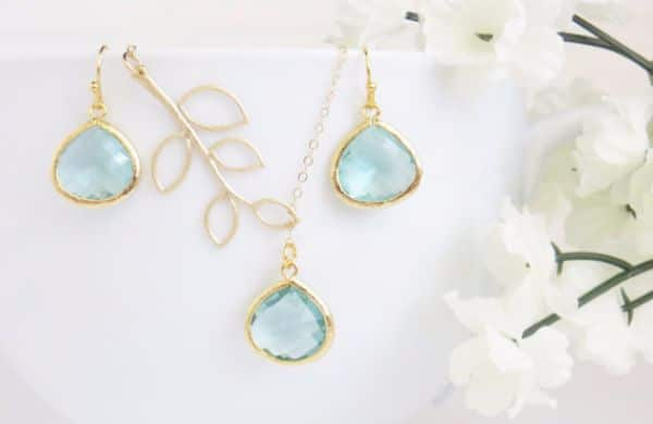 Birthstones Aquamarine Necklaces