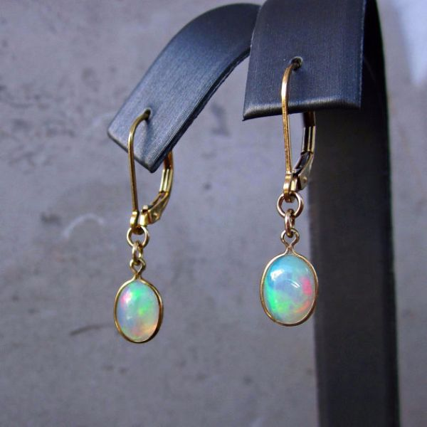 Birthstones Opal Earrings