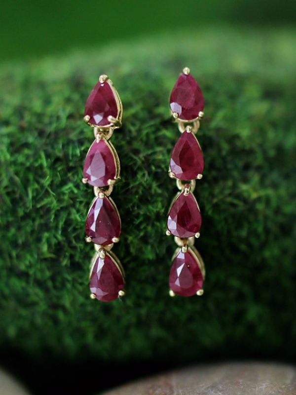 Birthstones Ruby Earrings