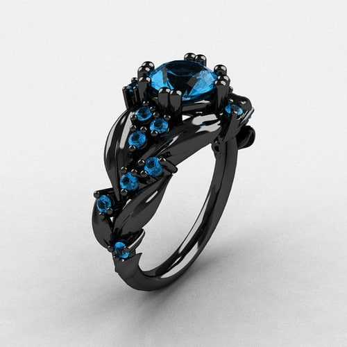 Black Gold Engagement Rings Uk